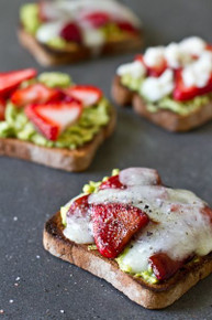 Avocado Strawberry and Goat Cheese Sandwiches - (Free Recipe below)