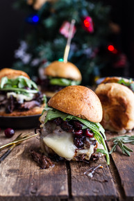 Ginger Steak and Brie Sliders with Balsamic Cranberry Sauce - (Free Recipe below)