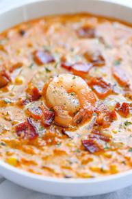 Creamy Shrimp and Corn Chowder - (Free Recipe below)