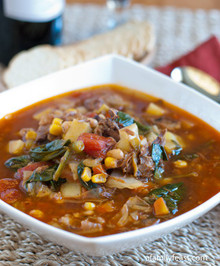 Hearty Beef Vegetable Soup - (Free Recipe below)