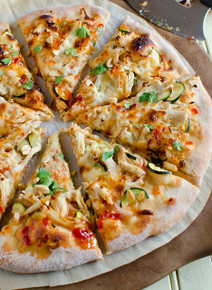 Thai Chicken Pizza - (Free Recipe below)