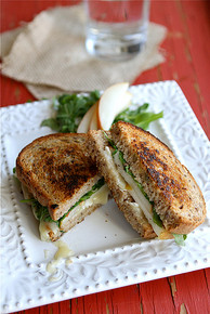 Brie, Pear & Hazelnuts Grilled Cheese - (Free Recipe below)