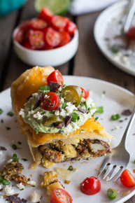 Breakfast Wraps with Avocado & Cajita Cheese - (Free Recipe below)