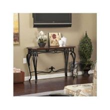 Beveled Glass Top Iron Console Hall WallTable
