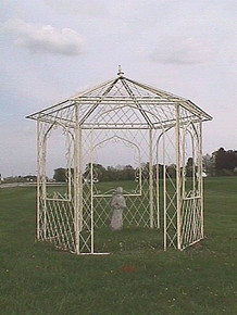 Shabby Chic Wrought Iron Gazebo - custom sizes, colors