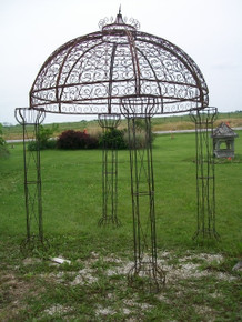 Jubilee Wrought Iron Gazebo, custom sizes, colors available