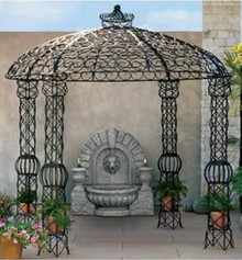 "Blair 10""d Wrought Iron Gazebo - custom sizes, colors available"