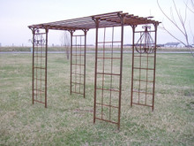 Elemental Wrought Iron Pergola Arbor - custom sizes, colors available
