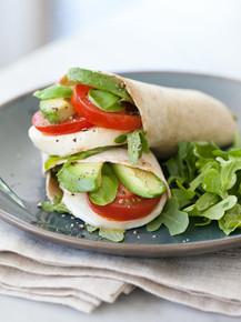 Avocado Caprese Wrap - (Free Recipe below)
