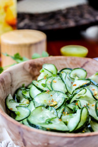 Cilantro Lime Cucumber Salad - (Free Recipe below)