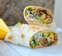 Breakfast Burritos with Mango Salsa - (Free Recipe below)