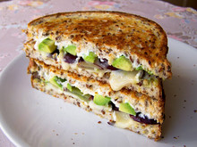 Brie, Grape & Avocado Grilled Sandwich - (Free Recipe below)