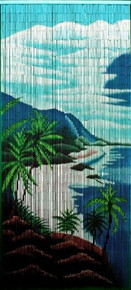 Tropical Cliffs Bamboo Beaded Curtain