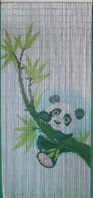 Panda Bamboo Beaded Curtain