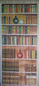 Bookcase Library Bamboo Beaded Curtain