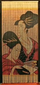 Geisha Girls Bamboo Beaded Curtain