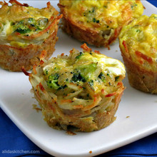 Broccoli, Cheddar & Egg Hashbrown Cups - (Free Recipe below)