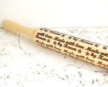 Personalized embossing rolling pin, custom laser engraved