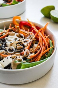 Veggie Noodle Bowl with Peanut Sauce - (Free Recipe below)