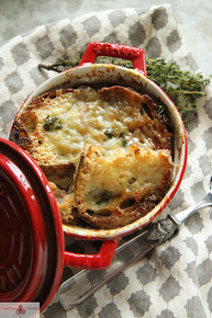 Rustic French Onion Soup w/ Red Wine - (Free Recipe below)