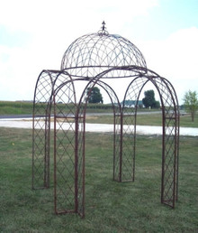 Fleur Scroll Dome Iron Gazebo - multiple colors sizes available