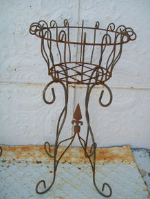 French Scroll Wrought Iron Planter