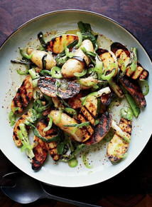 Grilled Potato Salad with Scallion Vinaigrette - (Free Recipe below)