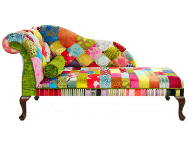 Chaise lounge in patchwork style for Chaise patchwork xl style