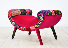 Smile Patchwork Pouf  Summer Chair