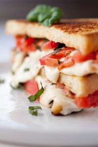 Caprese Grilled Cheese - (Free Recipe below)