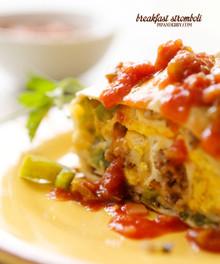 Breakfast Stromboli - (Free Recipe below)