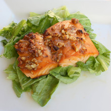 Honey and Pecan Glazed Salmon - (Free Recipe below)