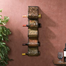 Metal Vineyard Wine Wall Rack