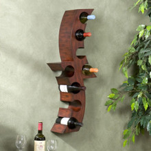 Curved Wine Wall Rack