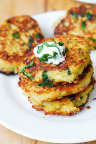 Spaghetti Squash, Quinoa and Parmesan Fritters - (Free Recipe below)