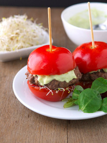 Tomato Avocado Burgers - (Free Recipe below)