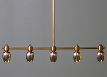 5 Tulip Brass Pendant Light