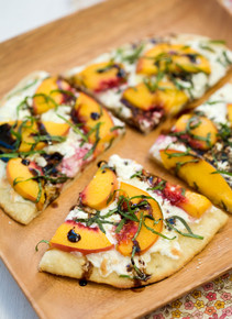 Summer Peach and Balsamic Pizza - (Free Recipe below)