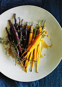 Honey and Lemon Thyme Roasted Carrots - (Free Recipe below)