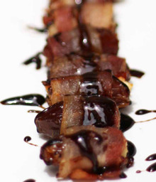 BACON WRAPPED DATES WITH A HONEY BALSAMIC REDUCTION - (Free Recipe below)