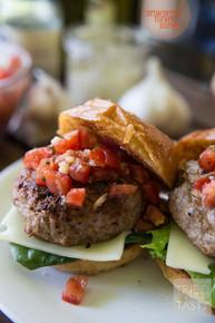 Bruschetta Turkey Burger - (Free Recipe below)