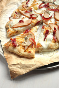 Proscuitto and Pear Pizza with Rosemary Olive Oil Pizza Crust - (Free Recipe below)
