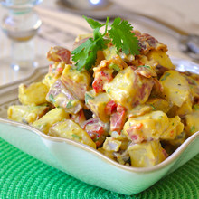 Bacon Potato Salad with Sweet Mustard Dressing - (Free Recipe below)