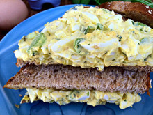 CURRIED EGG SALAD - (Free Recipe below)