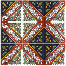 "Talavera Tile - TIL052 - Pack of 9 - 4"" x 4"""
