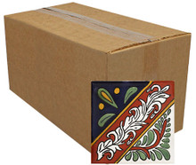 "Talavera Tile - TIL052 - Pack of 90 - 4"" x 4"""