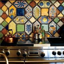 "Italian Ceramic Backsplash Tiles  8"" x 8"" - many sizes available / custom designs"