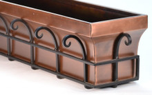 Copper Flared Window Box Planter 30""