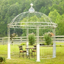 Scroll Round Iron Gazebo - multiple sizes available