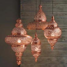 Copper - Set of Hanging Moroccan Light Pendants